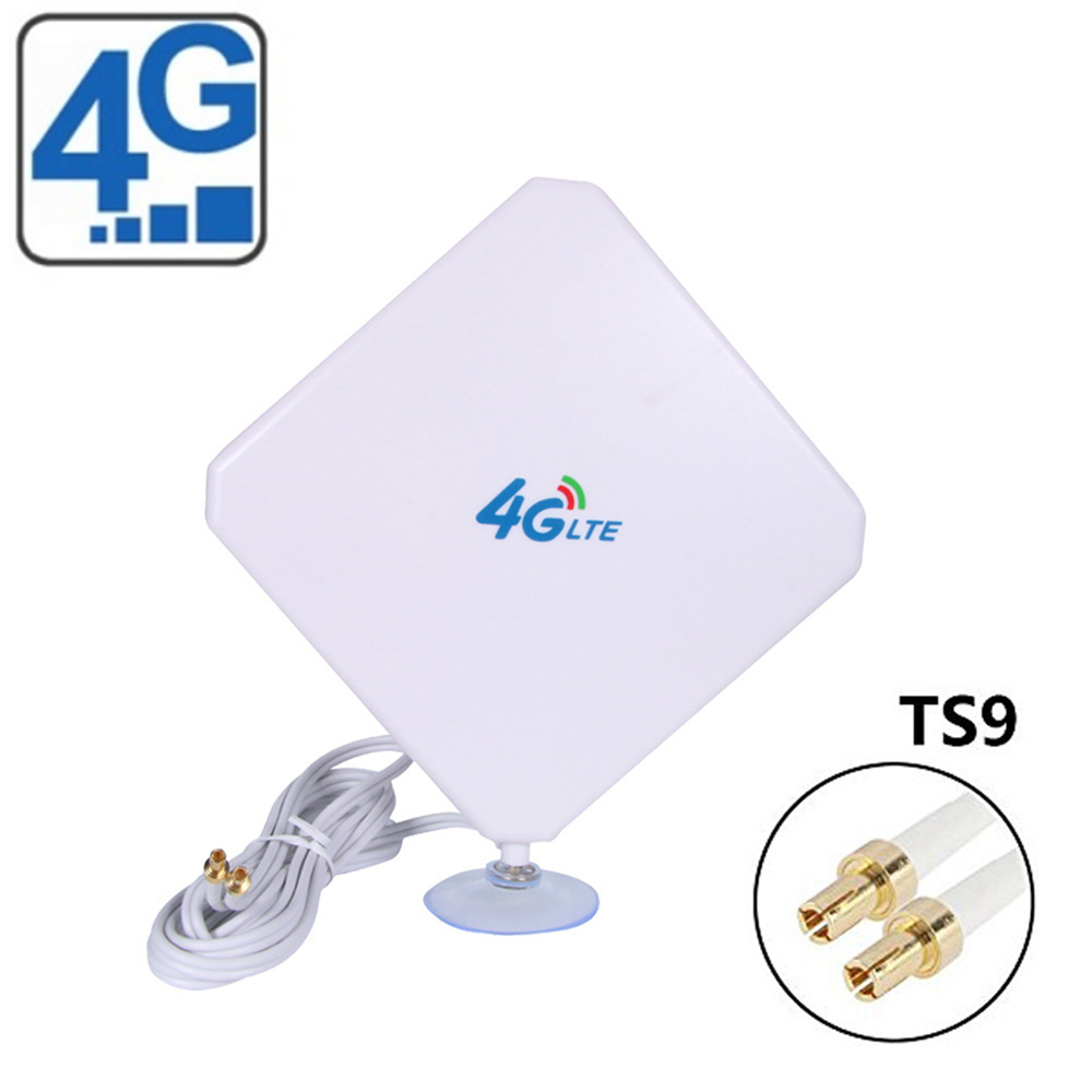 35dBi 3G 4G LTE Dual MIMO Antenna Booster Aerial TS9 Connector for Huawei BI622