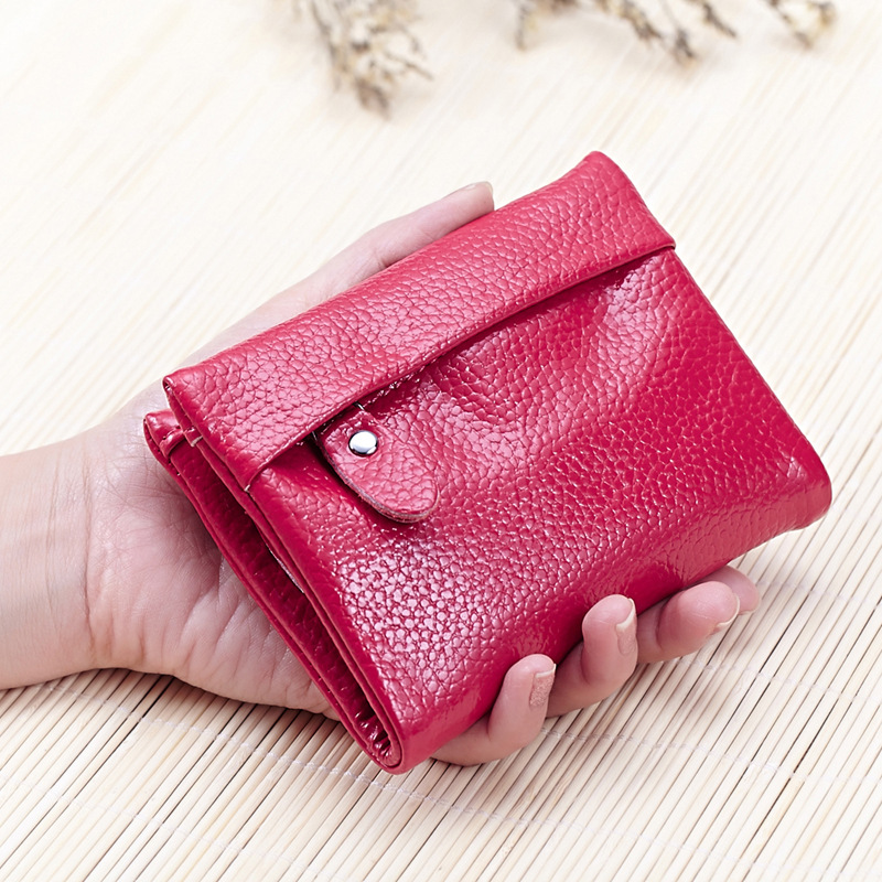 Women's Purses Leather Compact Small Wallet Short ...