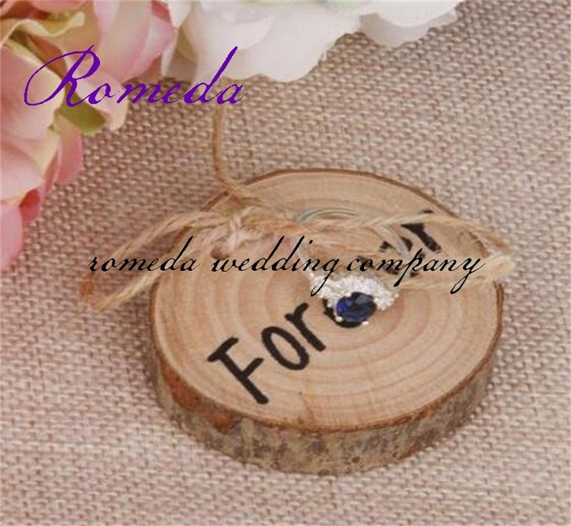 1PCSlot Wooden Ring Bearer Pillow Wood Wedding Ring HolderRing