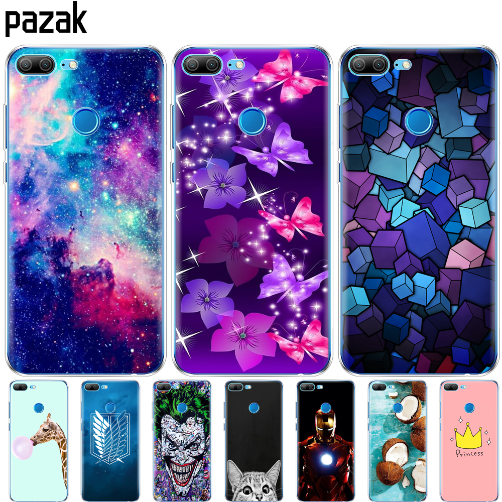 Silicone Case For Huawei Honor 9 Honor 9 Lite Phone Case Soft Tpu Back Cover Protective Printing Transparent Clouds Sky Coque