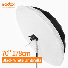 Godox – parapluie réfléchissant noir et blanc, 70 pouces, 178cm, pour éclairage de Studio, avec grand couvercle diffuseur