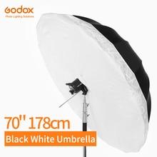 Godox paraguas reflectante blanco y negro de 70 pulgadas, 178cm, iluminación de estudio, paraguas con cubierta difusora grande