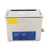 Overseas 6L Stainless Steel Digital Ultrasonic Cleaner Bath Tank W Timer Cleaning Machine Wave Tank For