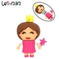 Original de la Princesa de Dibujos Animados Pendrive USB 2.0 4 GB 8 GB 16 GB 32 GB 64 GB Niñas Señoras de Las Mujeres USB Unidades Flash 128 M 256 M 512 M