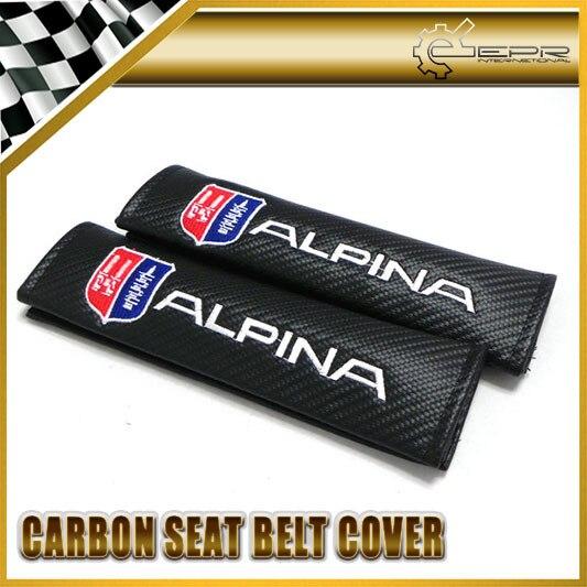 Автомобиль для укладки 2 шт./пара Для BMW Alpina Углерода Ремень безопасности Обложка Универсальный JDM