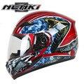 Nenki motocicleta rosto cheio capacete capacete da motocicleta cascos moto kask casque 816 h de corrida das mulheres dos homens de equitação capacete cobra