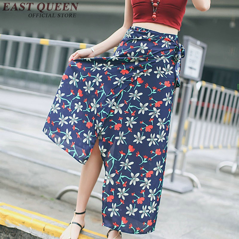 Summer long skirts floral beach long maxi skirts for women summer style long skirt summer women KK023