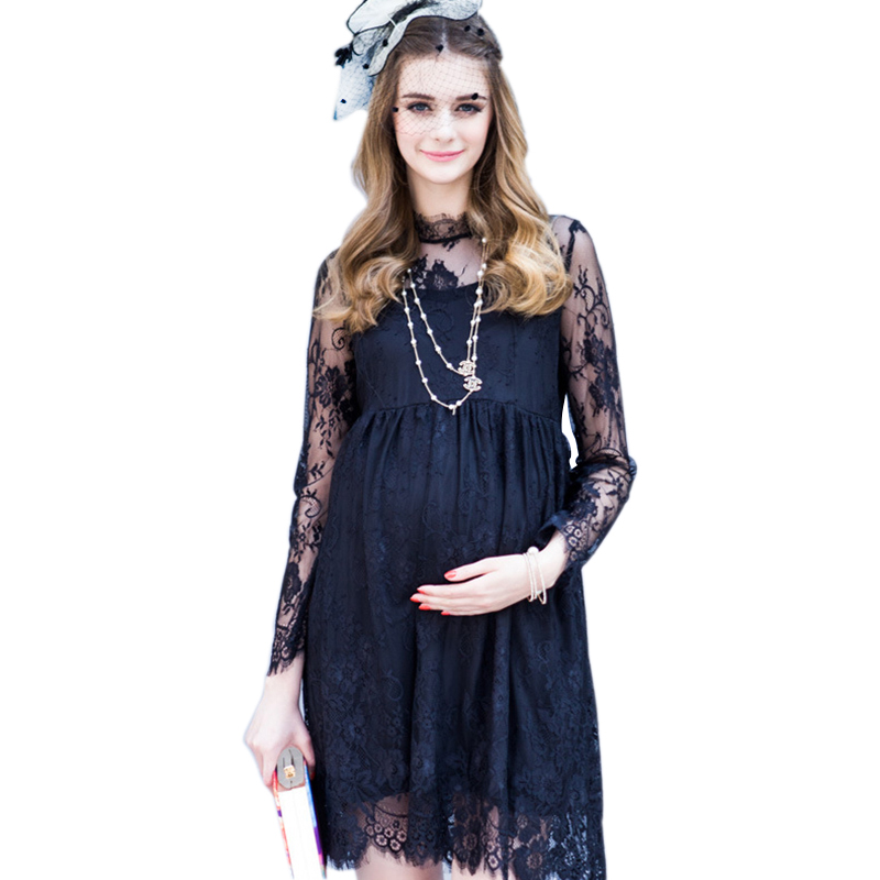 2016 Spring Lace Pregnant Women Maternity Dresses Clothing Clothes New Women Dress Top Spring Summer Fashion Models