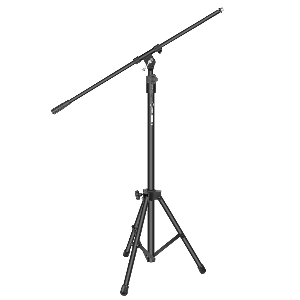 Neewer Heavy Duty Microphone Stand   40.2 64.2 inches Adjustable Height with 31.9 inches Extendable Telescoping Boom Arm|Microphone Accessories| |  - title=