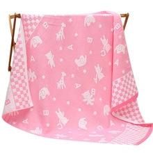 Square Baby Bath Towel Cotton Newborn Towel Cartoon Kids Absorbing Towels Soft Washcloth Newborn Sleeping Blanket