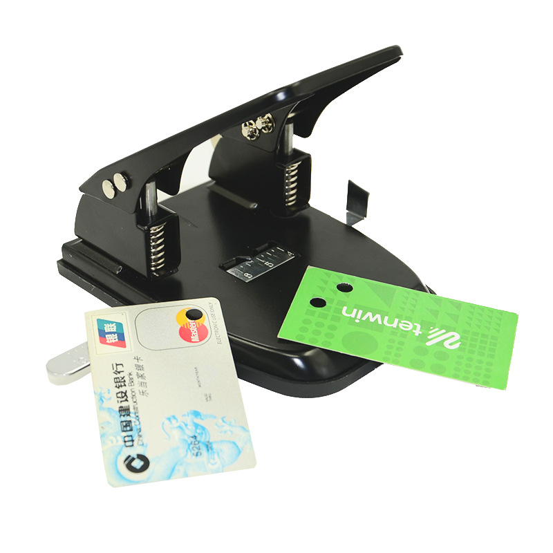 DIY Double Hole Punch DIE Cutter Knife Craft Paper Decorative Hole Puncher Scrapbooking Tools Office Binding Supplies