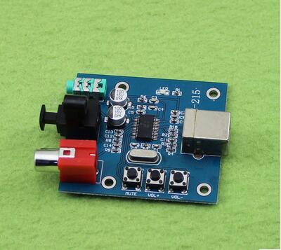 1Pcs PCM2704 USB DAC To S/PDIF  Decoder Board Module Analog Output