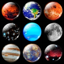 Beautiful Nebula Fridge Magnet Refrigerator Decoration Glows At Night Earth Moon Mercury Mars Jupiter Neptune Planet Galaxy