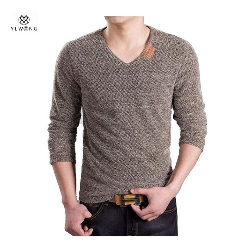 2017 new men long sleeve t shirt v neck fashion top xxxl t shirt men blue gray wine coffee. Black Bedroom Furniture Sets. Home Design Ideas