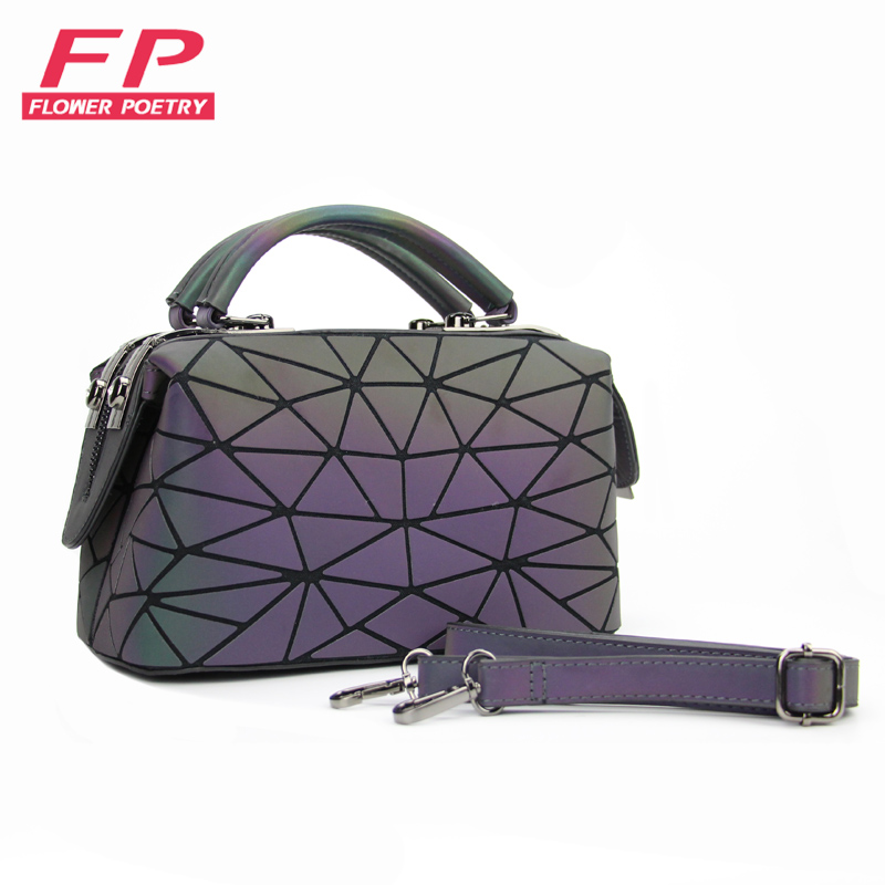 60f57f3ea1 New Women Luminous Bag Handbags Tote Bao Geometry Shoulder Bags Girls  Crossbody Bag Folding Bags bolsa
