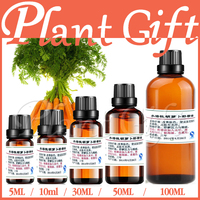100% puro planta solúvel em água óleos essenciais de Aromaterapia banho de óleo de semente de cenoura dedicada a Melhorar A cor da pele elasticidade