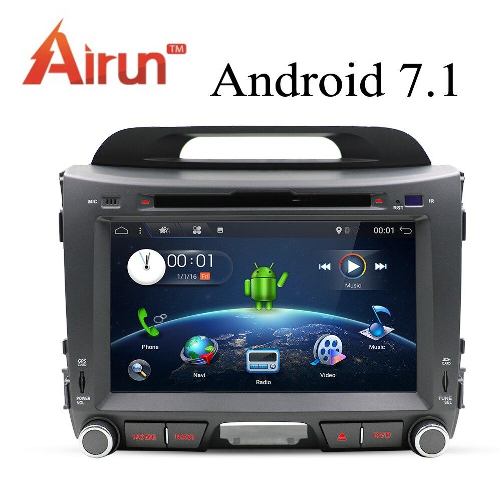 Bosion 2G + 16G Android 7.1 lecteur DVD de voiture radio KIA sportage r 2011 2012 2013 2014 2015 unité de tête de voiture gps navigation autoradio