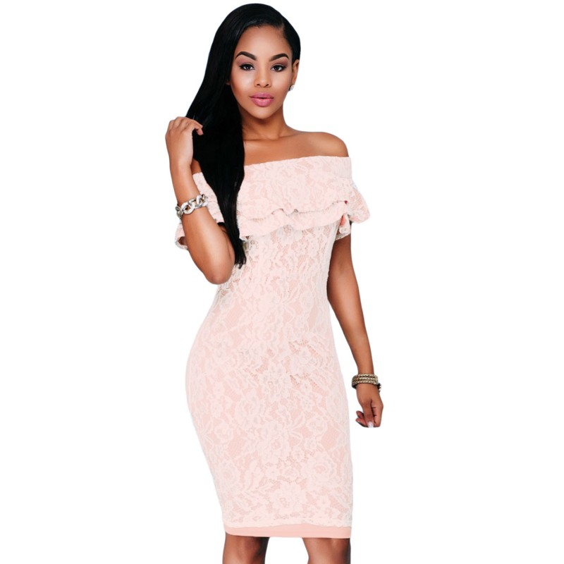 Online Buy Wholesale light pink lace dress from China light pink ...