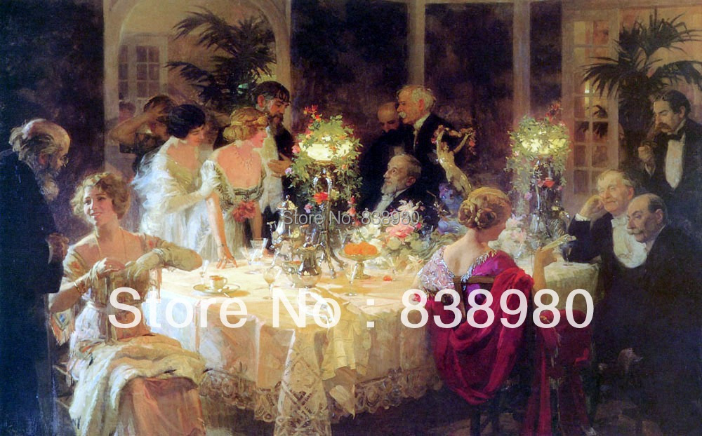 Classical royal court oil painting reproduction wall art decoration DHL send 120 60cm - Angel Arts store
