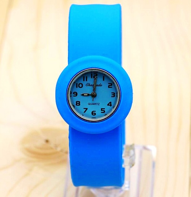 1pcs/lot free shipping High Quality silicone slap watch, kids slap watch childre