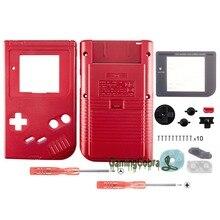 Sólido Red Shell Habitação Completa Botões com Tela Len para Gameboy DMG-01-GBF005
