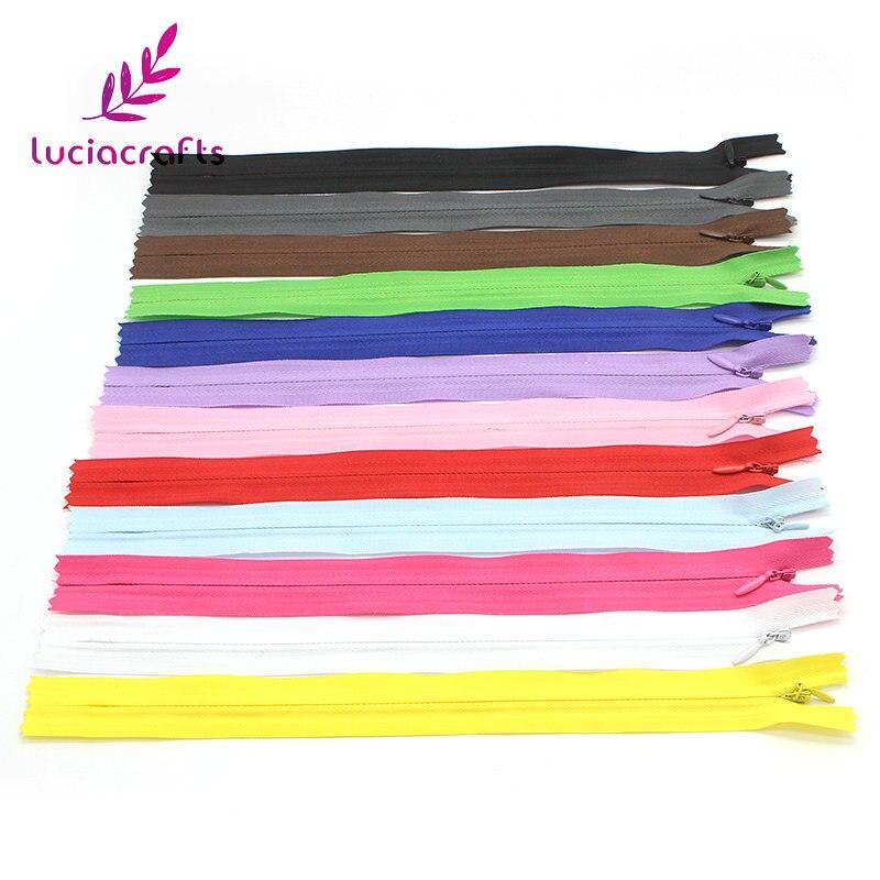 Распродажа! Lucia crafts 5 шт./лот многоцветные нейлоновые застежки-молнии с кольцом для шитья одежды своими руками аксессуары для рукоделия мате...