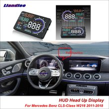Liandlee Car Head Up Display HUD For Mercedes Benz CLS-Class W218 20 Safe Driving Screen OBD II Speedometer Projector Windshield