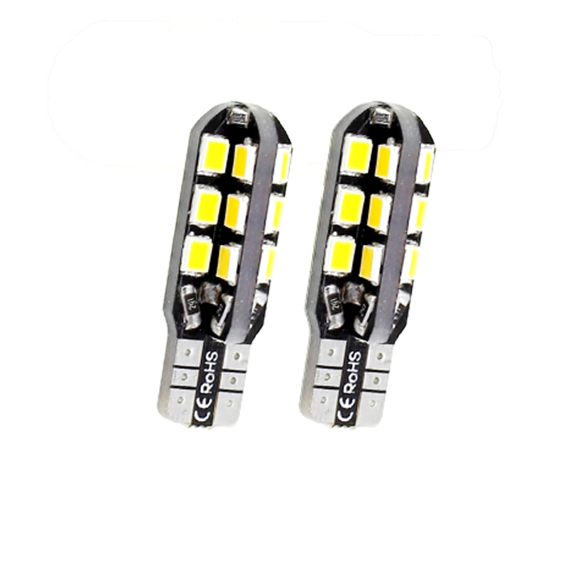 CQD-Light 2PCS Car White/warm LED Light 24 SMD 2835 LED PCB T10 W5W 147 Wedge Door Instrument Side Bulb Lamp DC 12V canbus auto 3156 12w 600lm osram 4 smd 7060 led white light car bulb dc 12v
