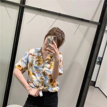 Summer Women Short Sleeve Floral Shirt Casual Slim Wlid Female Shirts Spring Fashion Ladies Tops Beach Style