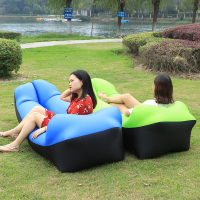 Inflatable Sofa Air Bed Air Lounger Chair Camping Laybag Lazy Bag Hammock Camping Banana Sleeping Bag