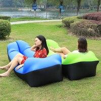 Inflatable Sofa Air Bed Air Lounger Chair Camping Laybag Lazy Bag Hammock Camping Banana Sleeping Bag