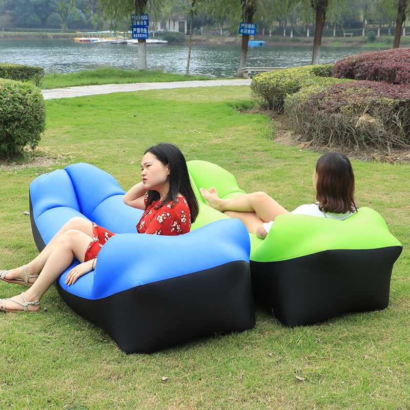 Inflatable Comfortable Lounger Blow Up Chair Inflatable Camping Sofa Airbed Air Mattress Bean Bag Sofa for Adults Kids Bedroom Garden Outdoor Indoor