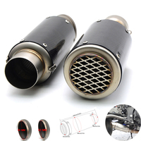 For 36 51MM 61mm Universal Motorcycle Exhaust Modified Pipe Slip On Motorbike Exhaust Pipes Carbon For