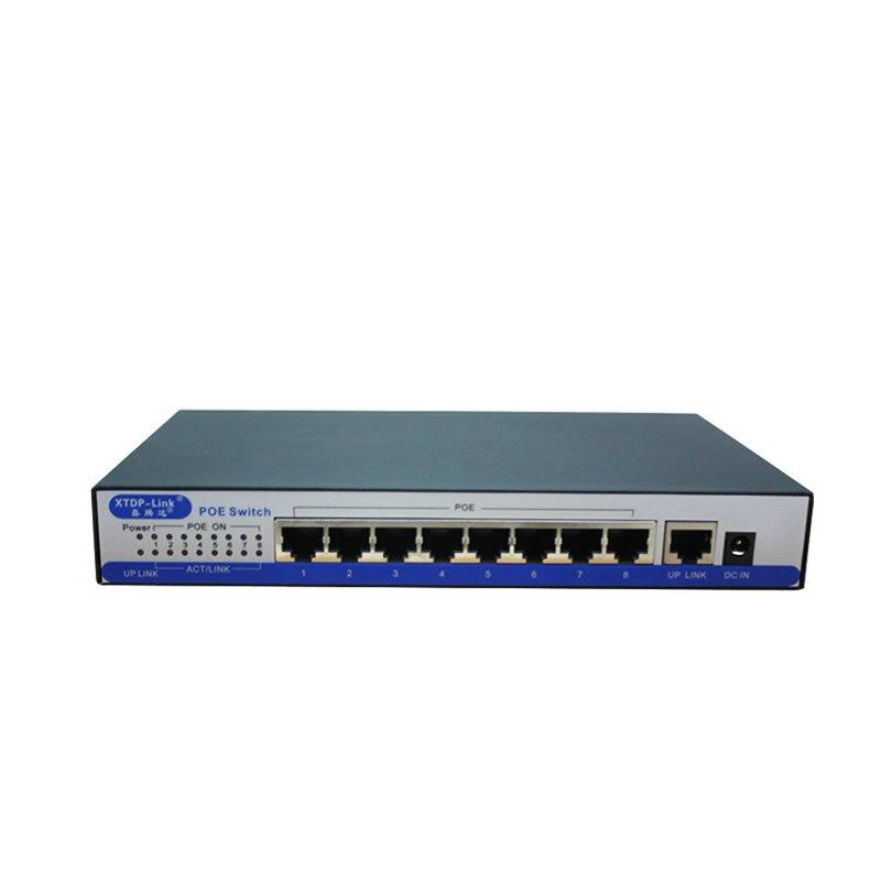 Commutateur poe gigabit VV1port 100/1000 Mbps IEEE802.3af/à POE actif 8 ports 50v2. 3a pour 8 pièces 1080 P 2MP 3MP 4MP 5MP 6MP caméra ip HD