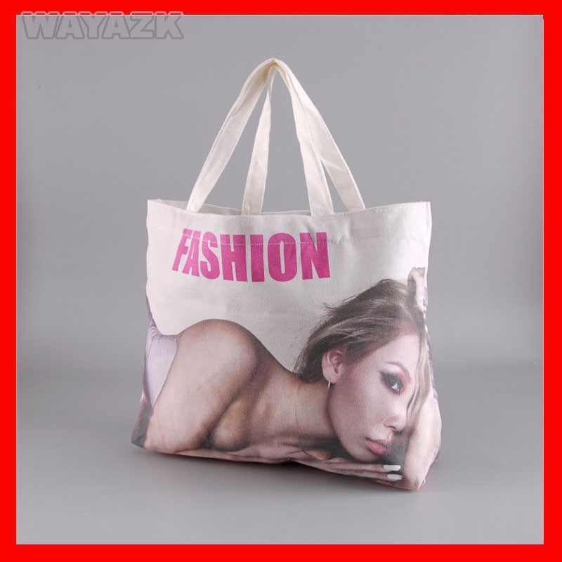 (500Pcs/Lot) Size 36X36x10cm Custom Logo Cotton Canvas Bag Tote