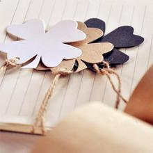 Beatiful New Fashion 50Pcs set Blank Craft Paper Hang Tags For Wedding Birthday Party Favor Label