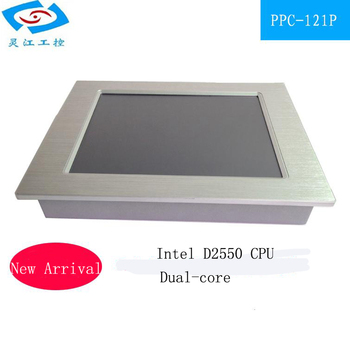 fanless 12.1 inch All-in-one pc 2*LAN Support 3*USB touch screen Industrial panel PCs for teaching machine