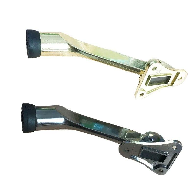 Zinc Alloy Kickdown Auto Acending Door Stops Lever Door Holder Rubber Satin Chrome Office Door Stopper in Door Stops from Home Improvement