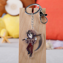 Japanese Anime Angel of Death Cartoon Figure Car Key Chains Holder Best Friend Graduation Chirstmas Day Gift
