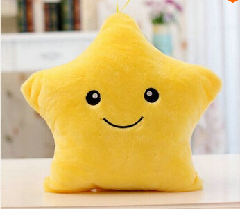 Luminous Juguetes Star Glowing Pillow New Year Toys For Children Led Light Plush Cushion Star Pillow Kids Toys For Girls