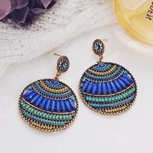 2019 New Women Drop Earrings Luxury Bohemian Leaf Dangle Earrings Women Fashion Jewelry Female Hollow Out Earrings leaf hollow out circle earrings