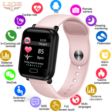 LIGE Smart Bracelet Heart Rate Blood Pressure Monitoring Fitness Tracker Watch Smart Band Pedometer For Android IOS PK Mi Band 3 itormis smart band wristband fitness bracelet with fitness tracker heart rate pedometer blood pressure pk id115 miband mi band 2