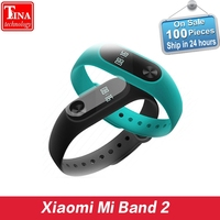 New 100 Original Xiaomi Mi Band 2 Miband Wristband Bracelet With Smart Heart Rate Fitness