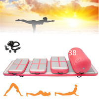 Top Quality A Set(6 Pieces) Inflatable Air Track Gymnastic Airtrack Cheerleading Gym Air Mat With Free One Pump