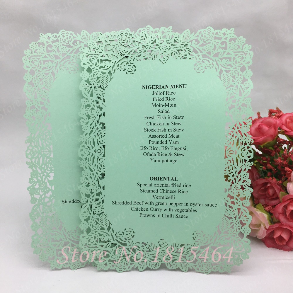 20pcs Laser Cut Rose Table Menu Place Card Wedding Handmade 17x12cm Banquet  Menu Card Invitation Card Party Table Decoration - buy at the price of  $8.60 in aliexpress.com   imall.com