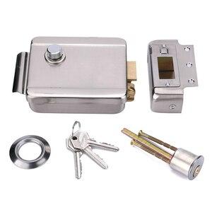 "Image 5 - 7 ""וידאו דלת טלפון ערכת עם מזהה Keyfobs + מנעול חשמלי + ספק כוח + דלת יציאה עבור וילה וידאו פעמון וידאו אינטרקום מערכת"