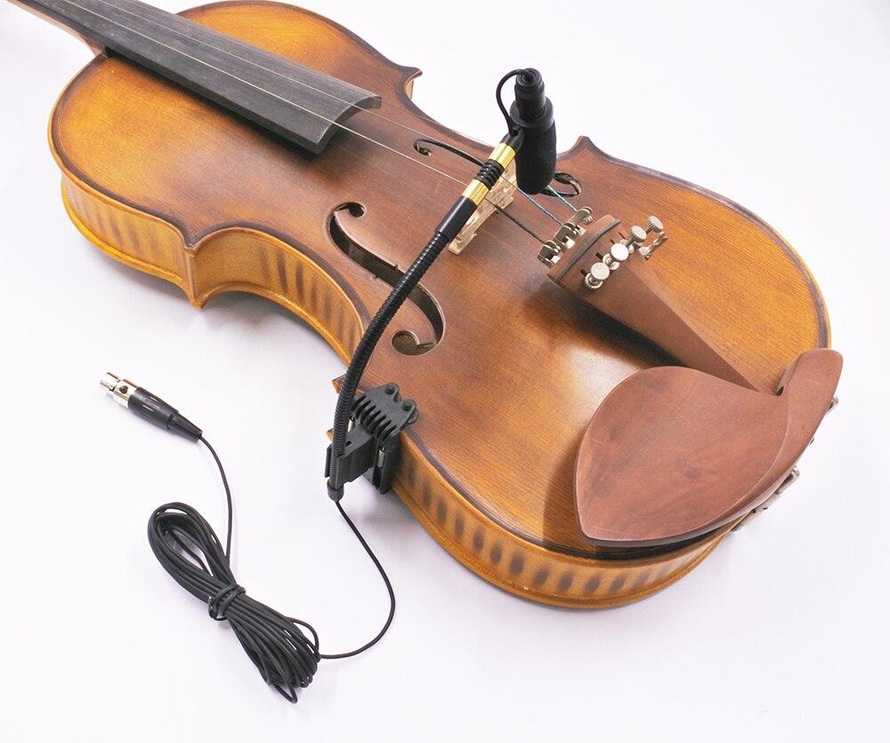 Acoustique violon violon col de cygne 4 broches mini XLR micro à condensateur microphone pour PGX1 SLX1 GLX1 émetteur de poche