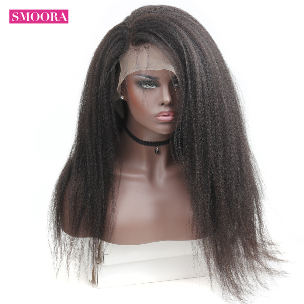 Smoora 360 Lace Frontal Wig Pre Plucked With Baby Hair   Afro Kinky Straight 360 Lace Frontal  Wigs 1