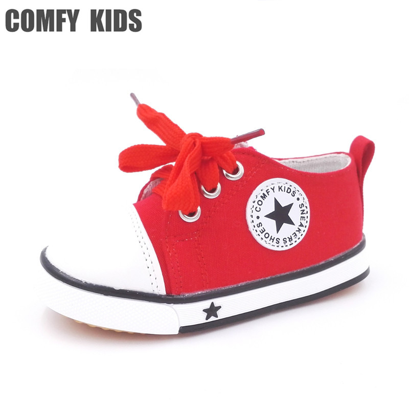 Comfy kids spring autumn size 21-25 boys girls canvas sneakers shoes for baby toddler shoes children sports sneaker shoes kids