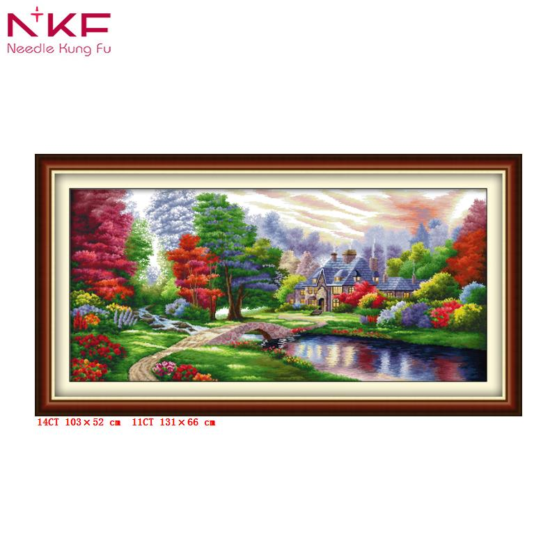 The Crusades Printed Cross Stitch Landscape Home Decor Chinese Cross Stitch Kit Scenic Needlework Crafts Canvas For Embroidery Arts,crafts & Sewing